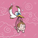 3877021-Vector-illustration-of-a-stork-carrying-a-cute-baby-Stock-Vector
